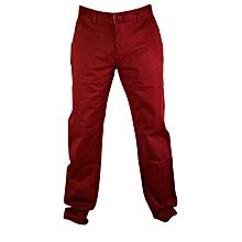 Maroon Soft Khaki Trouser