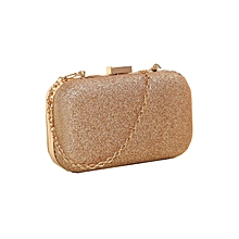 douajso Fashion Women Clutch Box Evening Party Glitter Chain Hand Bags Wallet GD