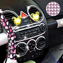 468pcs Glitter Crystal Diamond Decoration / Shining Rhinestone Sticker for DIY Ornament(Pink)