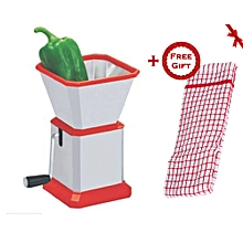 Chilly - Dry Fruit & Pepper Cutter - Slicer + FREE Gift Kitchen Towel.