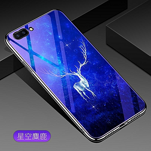 buy popular 6ebe0 6072d For OPPO A5 Lovely Cartoon Wolf Flower Blue Light Back Cover For OPPO A5  Anti-Explosion Tempered Glass Case Fundas 6.2inch 141246 c-2 (Color:Main ...