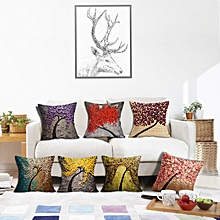 Honana BX 43x43cm 3D Vintage Flower Elephant Cotton Linen Pillow Case Cushion Cover Home Car Decor