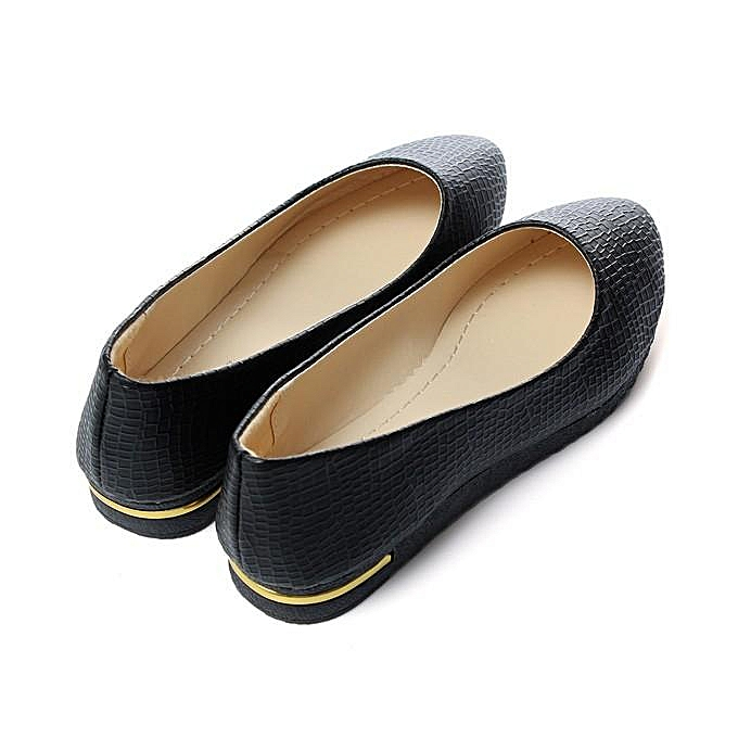 e50550b5d91 ... Womens Leather Slip On Flats Loafers Casual Ballet Ballerina Shoes  Single Shoes black ...