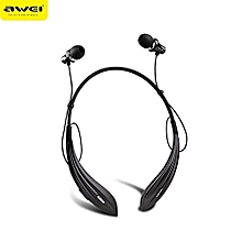 Wireless Bluetooth Neckband Headset A810BL - Black