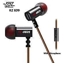 KZ ED9 In-Ear Earphone 3.5mm HiFi Stereo Earplug Noise Sound Super Bass Earphone for MP3 Smartphone   XXZ-Z