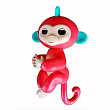 Cute Finger Toy Baby Monkey Toy Kids Gift with Flexible Head Arms Legs-Red