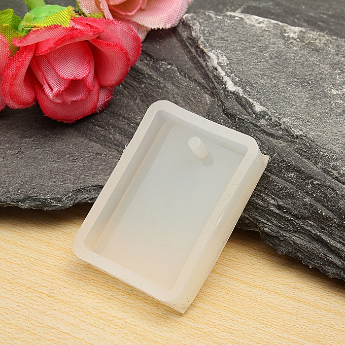 Silicone Mold Making Jewelry Pendant Resin Casting Mold With Hanging Hole  Rectangle