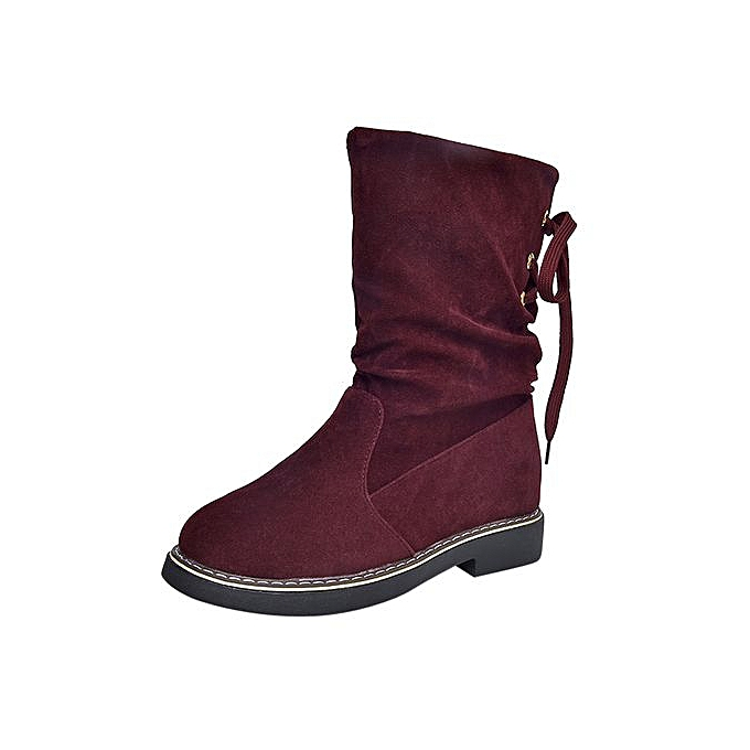 6cb4cec370920 Jiahsyc Store Women's Ladies Flock Winter Martin Mid-Calf Snow Boots  Footwear Warm Shoes -