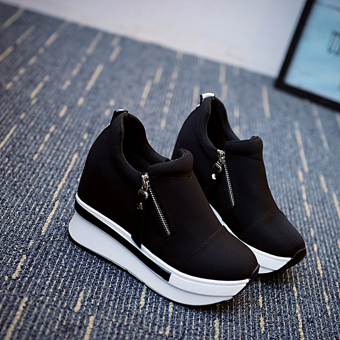 8a3bf659cde7 Women Wedges Boots Platform Shoes Slip On Ankle Boots Fashion Casual Shoes  BK 35-