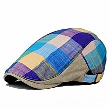 Men Women Duckbill Cotton Beret Cap Golf Driving Flat Cap Cabbie Colorful  Hat Blue - Blue 7ff243014649