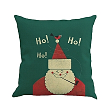 Santa Claus Printing Dyeing Sofa Bed Home Decor Pillow Case Cushion Cover G