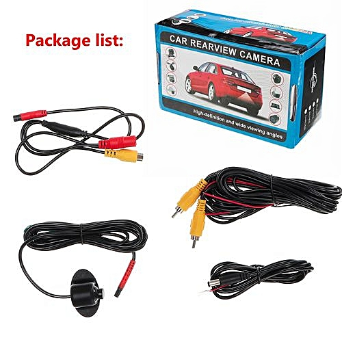 generic mini ccd coms hd night vision 360° car rear front side view backup  camera 12v