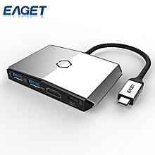 EAGET CH36 Type C HUB Multifunctional Hub 2USB3.0 1 HDMI