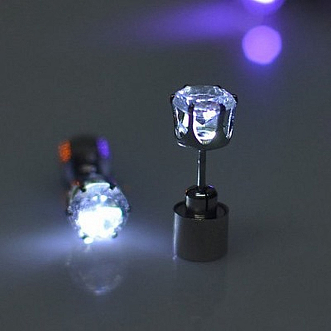 9 Colors Fashion Uni Led Glowing Earrings Pentagram Luminous Studs Colorful Flashing Jewelry Accessories Charm