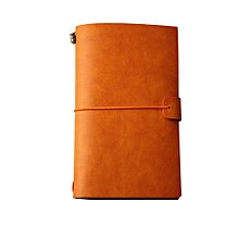 Classic Kraft Paper Strap Notebook Portable Creative Handmade Diary Book Gift