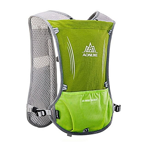 f1d5feb39b AONIJIE Women Men Lightweight Running Backpack Outdoor Sports Trail Racing  Marathon Hiking Fitness Bag Hydration Vest Pack(Fruit green)