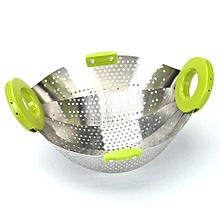 Retractable Steamer Tray Rack Drip Removable Drain Basket Fruit Stainless Steel Dishes Adjustable Plate Folding