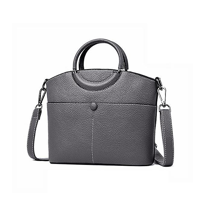 2a7e1539c42e5 Women Faux Leather Pure Color Tote Bag Designer Handbag Crossbody Bag