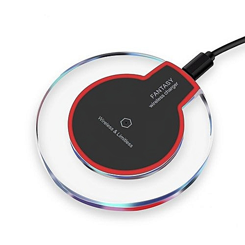 Wireless Charger Charging Pad for Apple iPhone 8/8 Plus, iPhone X, Samsung  Note 8, S8/S8 Plus/S7/S7 Edge/S6 - Black