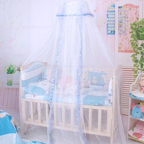 Round Dome Baby Infant Mosquito Net Toddler Bed Crib Canopy Netting White Babe-Blue & Round Dome Baby Infant Mosquito Net Toddler Bed Crib Canopy ...