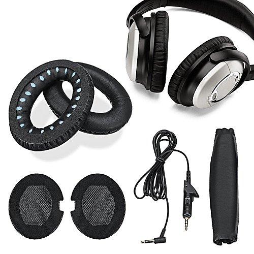 Replacement Ear Pads Audio Cable Headband Set For Bose Quietcomfort Qc15