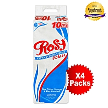 2 Ply Unwrapped White Toilet Tissue -10 x 4 Packs in a Bale