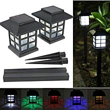 2 x Auto Outdoor Garden LED Solar Power Light Path Landscape Lamp Post Lawn