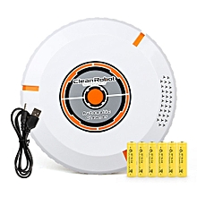 Intelligent Cleaning Robot Automatic Robotic Floor Vacuum Cleaner Dust Sweeper white