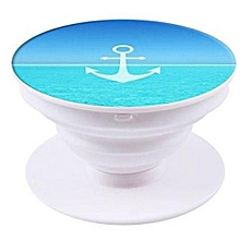 Anchor Pattern Multi Functional Mobile Phone Popsocket - Blue