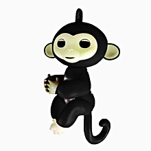 Cute Finger Toy Baby Monkey Toy Kids Gift with Flexible Head Arms Legs-Black
