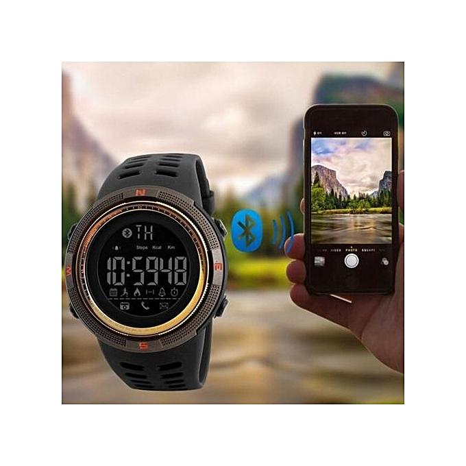 2017 NEW Men's Smart Sport Watch New SKMEI Brand Bluetooth Calorie Pedometer Fashion Watches Men 50M