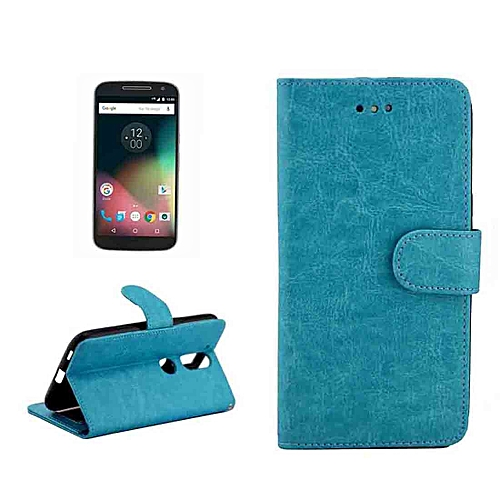 detailed look a1833 9b746 For Motorola Moto G (4rd gen) Crazy Horse Texture Horizontal Flip Magnetic  Snap Leather Case with Adjustable Holder and Card Slots and Photo Frame and  ...