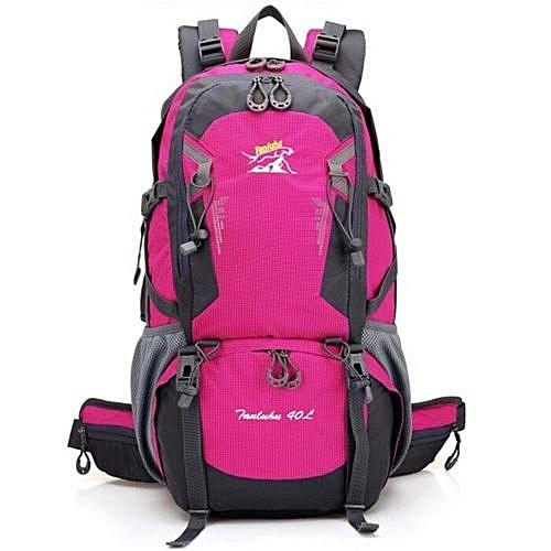 ba93d27110b2 Fashion Hot Selling Lightweight Foldable Waterproof Nylon Women Men Casual  Backpack Travel Outdoor Sports Camping Hiking Bag(Rose)