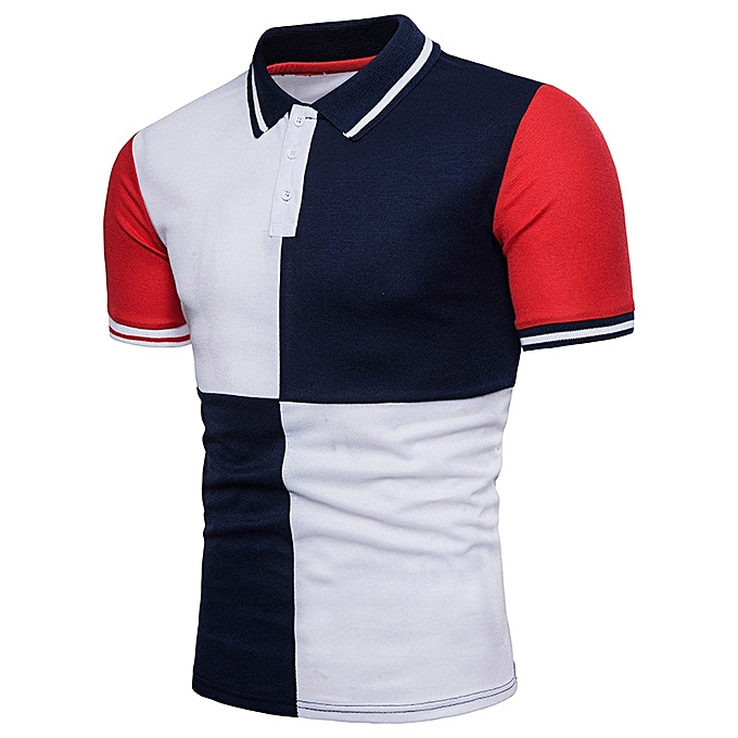 8c217af614d Men's Polo Shirt Men Polo Shirts Striped Cotton Short Sleeve Casual Slim Mens  Polo Shirts-