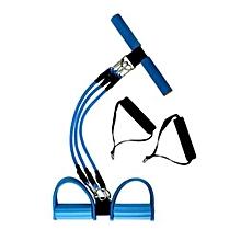Fitness Equipment Adjustable Sit-up Spring Exerciser Elastic Body Building Expander - Blue