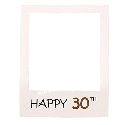 Buy Generic 30 40 50th Happy Birthday Photo Booth Props Frame Party