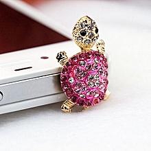 Bluelans Turtle Anti Dust Plug Earphone 3.5mm Ear Jack For IPhone Samsung Galaxy Rose-Red