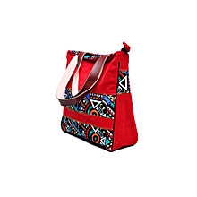 Multicolor ToteBag for  Women 15.6 Inch Laptop  Bag Notebook Shoulder Bag Lightweight Multi-pocket Suede Casual Handbag (red)