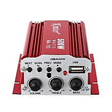 MA700 - HiFi Stereo Power Digital Amplifier With IR Control, FM, MP3 - Red