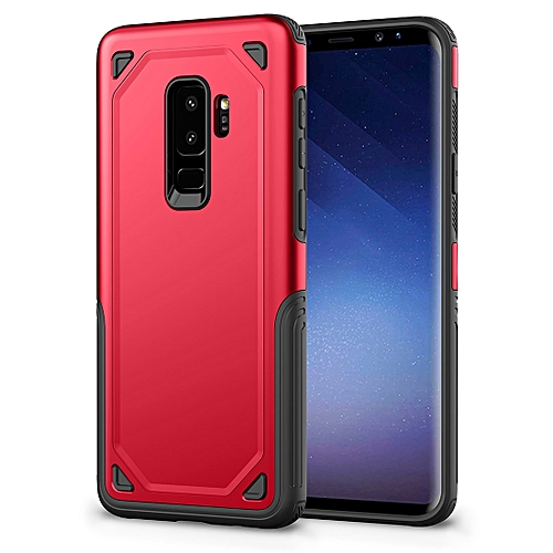 reputable site 3e03a 167de For Samsung Galaxy S9+ Shockproof Rugged Armor Protective Case(Red)