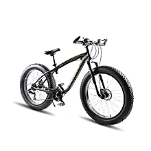 Mountain Bike 26 inches 21 Speed,Disk Brake  Black Fat Tires