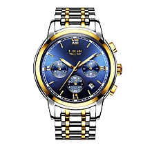 Fashion Luxury Stainless Steel Men Watches 3ATM Water-resistant Quartz Watch Luminous Sport Man Wristwatch Male Relogio Musculino Chronograph
