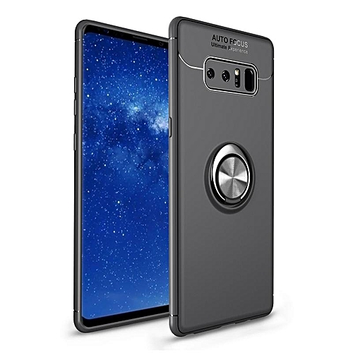 buy popular dd60d f0c0b For Samsung Galaxy Note 8 Cases Cover Silicone + Metal Ring Car Magnetic  Robot Stand For Samsung Note8 Cover