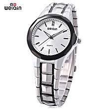 Men Quartz Watch Artificial Diamond Dia Luminous Wristwatch-WHITE