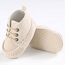 bluerdream-Baby Toddler Soft Sole Leather Shoes Infant Boy Girl Toddler Shoes BG 11-Beige