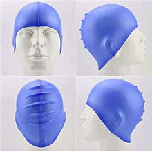 Water-proof Elastic Swimming Cap - Blue