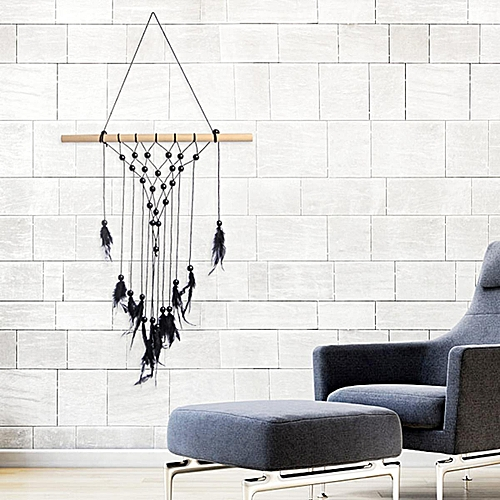 Generic Retro Knitted Tassel Macrame Handcraft Wall Hanging Bohemian