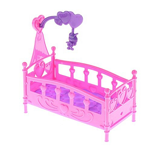 Barbie Doll Furniture Dolls Accessories 10cm Baby Doll Play House Plastic Bed