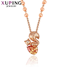 XUPING  Necklace Fashion Ladies Necklace-Rose  Gold