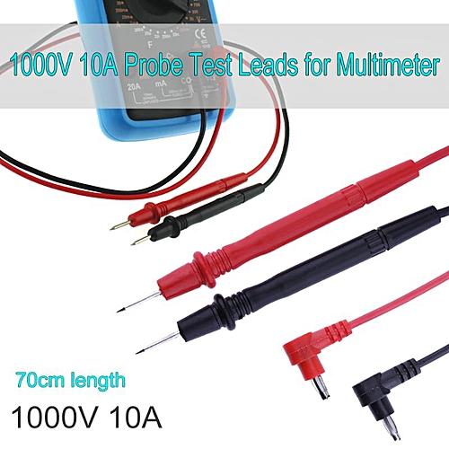 70cm 10A Universal Probe Test Leads Pin for Digital Multimeter Multi Meter  Tester Lead Probe Needle Tip Wire Pen Cable(Red)